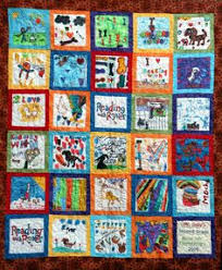 My sister's prize winning Washington State Row by Row quilt. | My ... & Reading with Rover quilt. Adamdwight.com