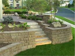 large retaining wall block s combined with big retaining wall blocks combined with interlocking concrete blocks