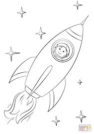 Small Picture Boy Astronaut Flying in a Space Rocket coloring page Free