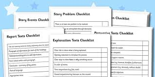 Genre Writing Checklist Pack Text Types Text Type