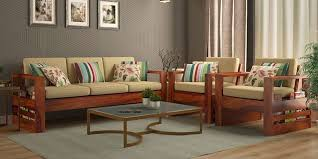 wooden sofa set with list