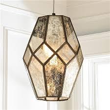catchy mercury glass pendant light mercury glass prism pendant large shades of light