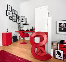 red black home office. Photo Group Home Office Contemporary With Red And Black Wall Clocks M
