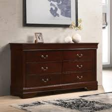 Furnituremaxx Isola Louis Philippe Style Fully Assembled Wood Dresser  Cherry Finish Easy To Assemble Dresser73