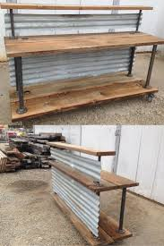 industrial chic furniture ideas. retail sales transaction counter or reception station it is made from reclaimed wood u0026 tin nice industrial chic look good idea for a moveable furniture ideas c