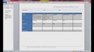 Rubric Template Microsoft Word Rubric Design Using Microsoft Word 2010 Pt 1 Of 4