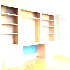 built in wall desk plans with computer bookcase cabinets office 3 of