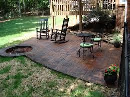 concrete patio with fire pit. Concrete Patio With Fire Pit T