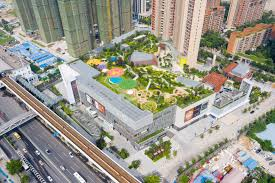 Recreational Space Design A Lush Public Park Grows On The Roof Of A Luxury Wuhan Mall