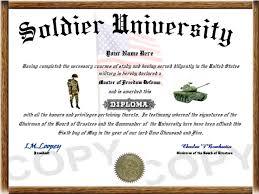 military diplomas army ier diploma