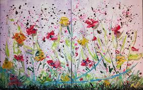 saatchi art artist maria rom painting flowers abstract art