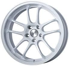 5x120 Bolt Pattern Classy Enkei PF48 EVO Lightweight Racing Pearl White Wheel 48x4848 Rim Size