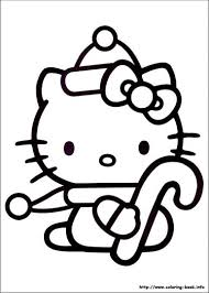 Small Picture Hello Kitty Christmas Coloring Pages Part 1