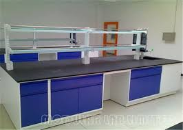 stainless steel phenolic resin top painted steel lab cabinets and countertops