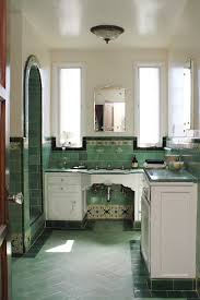 i love bathrooms from this era especially the showers with arched