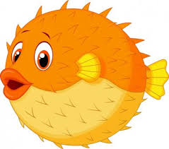 puffer fish spikes free vector eps cdr