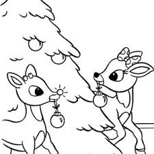 Rudolph Coloring Pages For Christmas Fun For Christmas Halloween