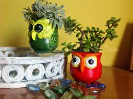 sphere planter made from clay pots google search