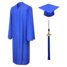 <b>Matte Royal</b> Blue <b>High</b> School Cap, Gown & Tassel | Gradshop