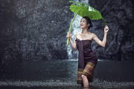 Thailand women outdoor bath