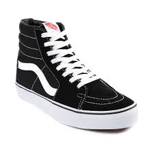 vans shoes with roses. vans sk8 hi skate shoe - black/white alt3 shoes with roses