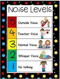 Noise Level Chart Social Skills Pinterest Noise Levels