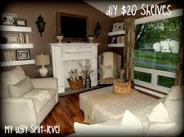 Split Level Living Room This Lady Has Tons Of Thrifty Ideas For Redecorating A Plain Old