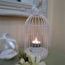 Tea Light Birdcage Shabby Chic Cream Bird Cage Tea Light Holder