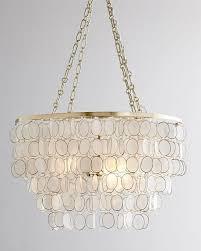 aurora tiered capiz shell chandelier