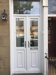 white double front door. Top Notch Double Front Doors For Sale UPVC White Storm In Jordanhill Door H