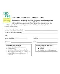 Employee Name Change Request Form System Template Definition ...