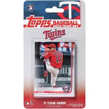 Size Of A Baseball Card Minnesota Twins 2019 Team Card Set No Size