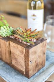 this easy to make diy wood succulent planter is the perfect way to bring