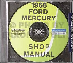 1968 mercury wiring diagram original marquis monterey montclair 1968 ford and mercury big car cd rom repair shop manual