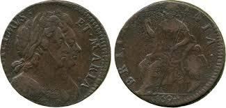 William & Mary Halfpenny, 1694 | Baldwin's