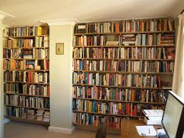 wall to bookshelves unbelievable mounted timber interior design 4