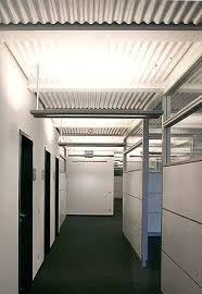 corrugated metal ceiling panels wave installed with a concealed grid sheet loop perforated corrugated metal ceiling
