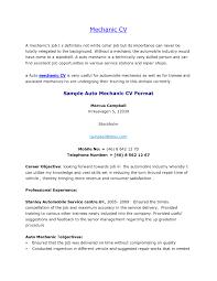 40 Perfect Mechanic Resume Objective Ei E50237 Resume Samples