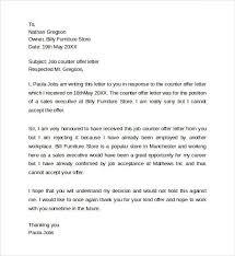 Counter Offer Letter Sample Magdalene Project Org