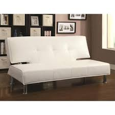 armless leather sofa beautiful sofa bed with coaster silky faux leather convertible sofa bed in white