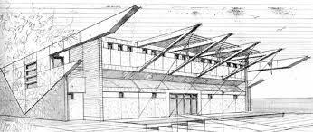 architectural hand drawings. Plain Hand Architecture Perspective Drawing Inside Architectural Hand Drawings