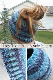 Bun Hat Pattern Stunning Messy Mom Bun Beanie Crochet Pattern