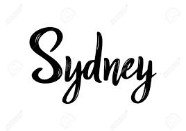 Sydney Name Design Sydney Handwritten Calligraphy Name Of The City Hand Drawn Brush
