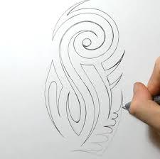 как нарисовать татуировку на предплечье на бумаге поэтапно