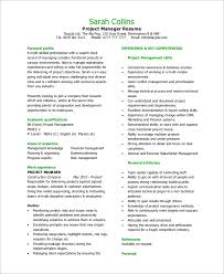 Sample It Project Manager Resumes 8 Sample Project Manager Resumes Pdf Word
