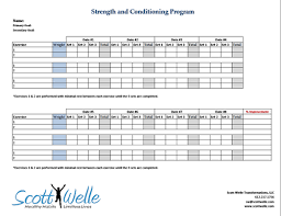 Weight Training Schedule Template - Kleo.beachfix.co