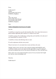 Different Types Resignation Letters Letters Week Resignation Letter Sample Letters Samples Resignation 13