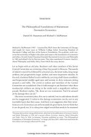 the philosophical foundations of mainstream normative image