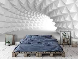 3D Black White Geometric Space Wall ...