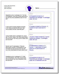 Math Word Problem Key Words Chart Word Problems